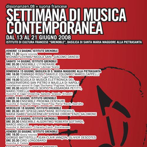 Dissonanzen.08  <br>Settimana di Musica Contemporanea