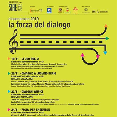 Dissonanzen 2019 La Forza Del Dialogo SIAE CLASSICI DI OGGI