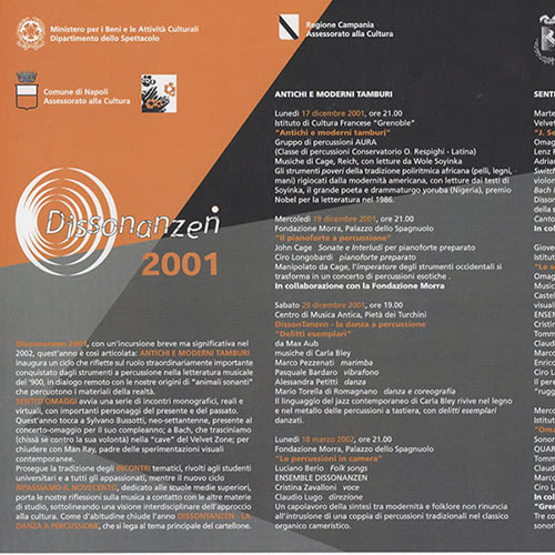 Dissonanzen 2001